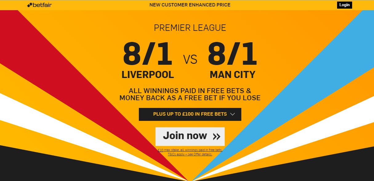 Betfair. Bonus. Premier League.LivVsManCit