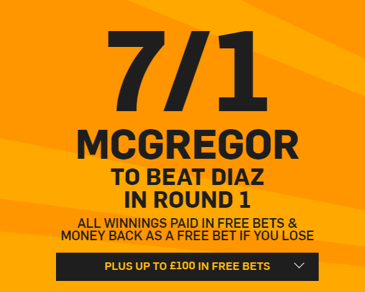 Betfair. Promotion. UFC odds.Conor