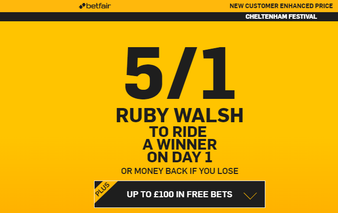 betfair.promotion.cheltenham festival. ruby walsh