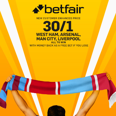 BETFAIR_ACCA_WestHam_Arsenal_ManCity_Liverpool_uk