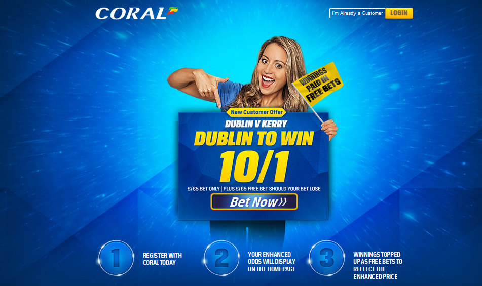 Coral.promotion.GAA Allianz Football League