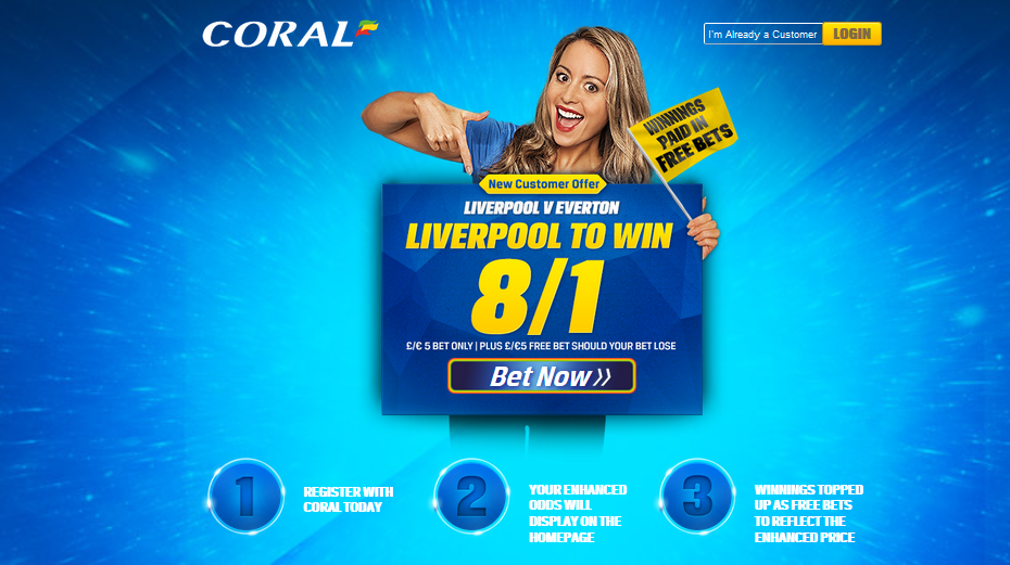 coral promotion Liverpool vS Everton